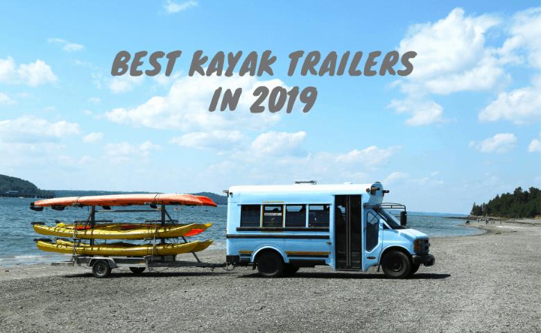 kayak trailer and tourist bus